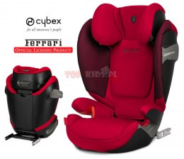 CYBEX SOLUTION S-FIX FERRARI RED 15-36 kg ISOFIX LICENCJA